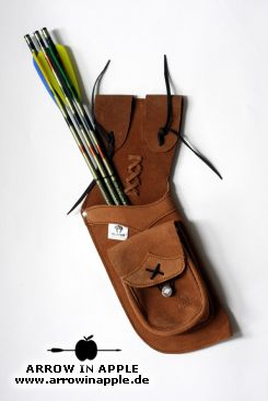 Belt quiver, leather (1409)
