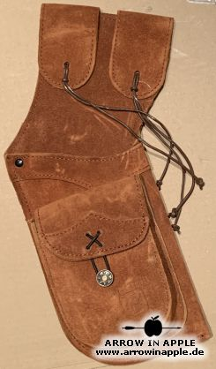 Belt quiver, leather, brown (3297)