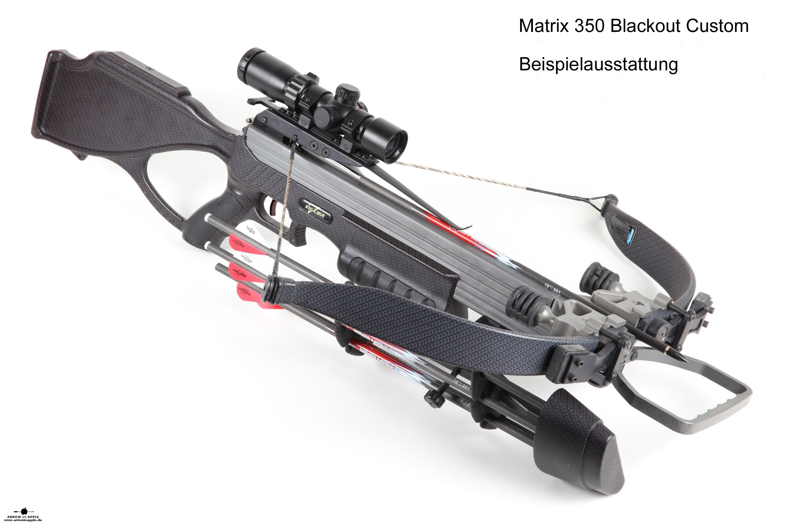 Excalibur Matrix 350 Blackout Custom Crossbow at ARROW IN APPLE